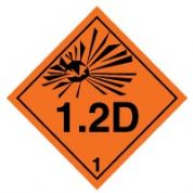 Hazard safety sign - Explosive 1.2D 020